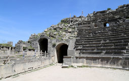 West Theatre of Umm Qais (Umm Qays)-- is a town in northern Jordan near the site of the ancient town of Gadara Stock Photos