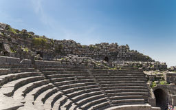 West Theatre of Umm Qais (Umm Qays)-- is a town in northern Jordan near the site of the ancient town of Gadara Stock Photography