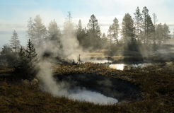 West Thumb Geyser Basin Stock Photography