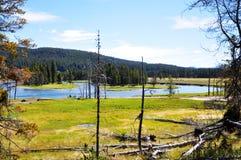 West Thumb Geyser Basin Royalty Free Stock Photos