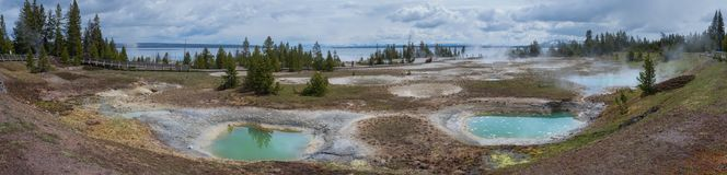 West Thumb Geyser Basin in Yellowstone National Park Royalty Free Stock Images