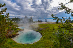 West Thumb Geyser Basin Yellowstone Stock Image
