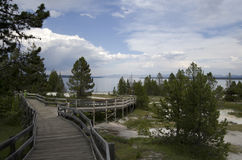 West thumb lake yellowstone Royalty Free Stock Image