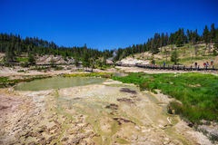 West Thumb in Yellowstone National Park , USA Stock Images