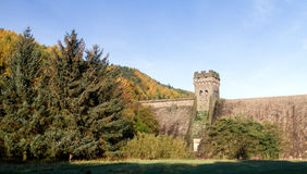 West tower of derwent dam Royalty Free Stock Photo