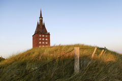 The west tower of the island of Wangerooge Stock Photo