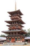 West tower of Yakushi ji in Nara. Japan stock images