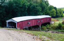 West union Covered bridge in indiana Stock Photo