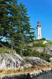 Close-up of Arkinson Lighthouse in West Vancouver, Canada royalty free stock images