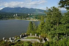 West Vancouver and Lions Gate Royalty Free Stock Images