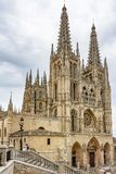 West view of the Cathedral of Burgos royalty free stock images