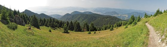 West view from hillside of mountain of Velky Choc Royalty Free Stock Photography