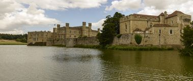 West view of Leeds castle, Maidstone, England Stock Images