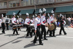 West view matching band. In the 2015 Grand Rose parade Stock Images