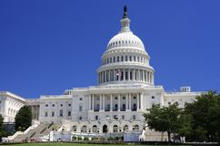 West View of US Capitol Royalty Free Stock Photo