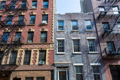 West Village in New York Manhattan buildings Stock Photography