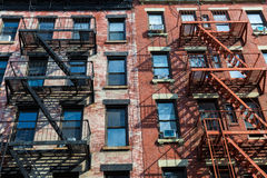 West Village in New York Manhattan buildings Royalty Free Stock Photo