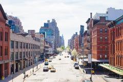 West Village at New York Manhattan. Empty streets in West Village at New York Manhattan, USA Stock Image