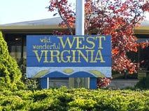 West-Virgina-Zeichen stockbild