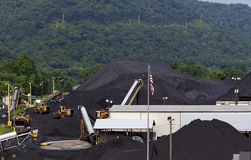 West Virginia Coal Company Terminal Stock Photo
