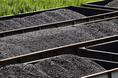West Virginia Coal In Railroad Hopper Cars Royalty Free Stock Photography