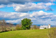 West Virginia countryside in early fall. West Virginia countryside in the early fall. A huge, blue sky with billowing clouds and a great barn royalty free stock photos