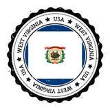 West Virginia flag badge. Stock Photo