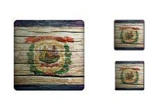 West-Virginia flag Buttons Stock Photos