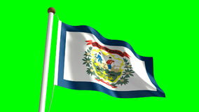 West Virginia Flag Royalty Free Stock Photography