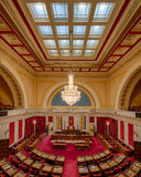 West Virginia House of Representatives. House of Representatives chamber from the balcony of the West Virginia State Capitol building in Charleston, West Royalty Free Stock Photography