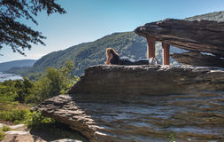 West Virginia Jefferson Rock Harpers Ferry Park Stock Images