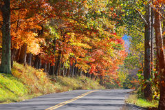 West Virginia lantlig huvudväg arkivbild