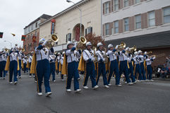 The West Virginia Marching Band stock photos