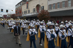 The West Virginia Marching Band stock image