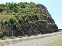 West Virginia Mountain. By Road stock image