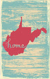 West Virginia nostalgic rustic vintage state vector sign. Rustic vintage style U.S. state poster in layered easy-editable vector format Royalty Free Stock Photos