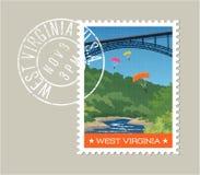 West Virginia postage stamp design. Royalty Free Stock Image