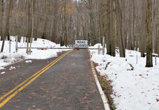 West Virginia road closure - from Superstorm Sandy Royalty Free Stock Photos