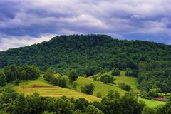 West Virginia rual countryside landscape stock photography