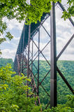 West Virginia's New River Gorge bridge carrying US 19 royalty free stock photos