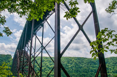 West Virginia's New River Gorge bridge carrying US 19 royalty free stock images