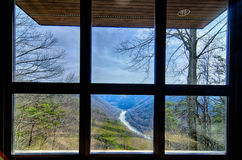 West Virginia's New River Gorge is viewed from the visitor cente royalty free stock image