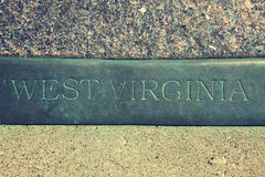 West Virginia sign stock images