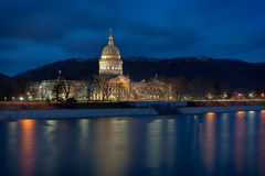 West Virginia State Capitol. Building across the Kanawha River in Charleston, West Virginia stock image