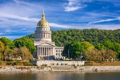West Virginia State Capitol in Charleston, West Virginia, USA royalty free stock photos
