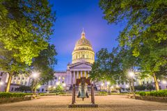 West Virginia State Capitol. In Charleston, West Virginia, USA royalty free stock image
