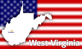 West Virginia state contour Royalty Free Stock Photos