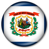 West Virginia State Flag Button. Glassy Web Button with the flag of the state of West Virginia, USA Stock Photography