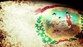West Virginia State Flag Waving, grunge look. West Virginia State Flag Waving grunge look, video footage stock video footage