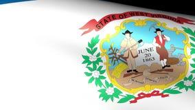 West Virginia State Flag Waving. Video footage stock video footage
